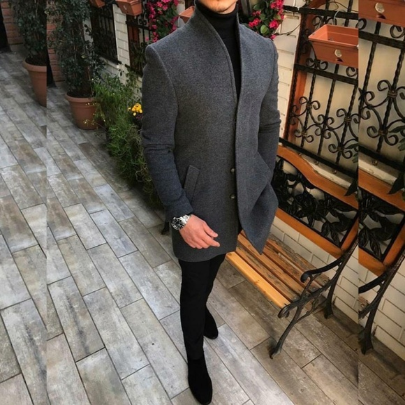 Other - Men's Casual Thicken Warm Slim Wool Blends Coat